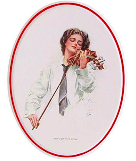 "1920's Original American 'Fisher Girl' Print, ""Song of the Soul"" - Harrison Fisher"