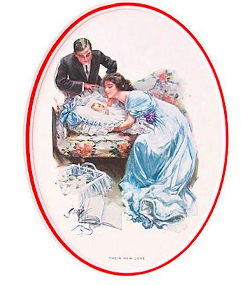 "1920's Original American 'Fisher Girl' Print, ""Their New Love"" - Harrison Fisher"