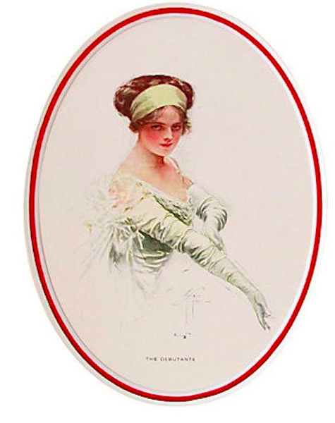 "1920's Original American 'Fisher Girl' Print, ""The Debutante"" - Harrison Fisher"