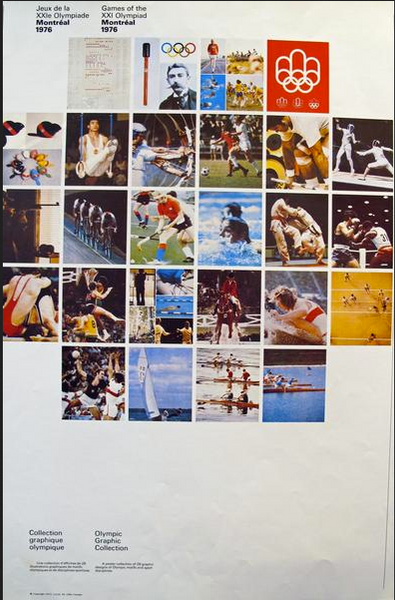 1976 Montreal Olympic Poster, Olympic Graphic Collection (Complete Set 28 Posters) - COJO
