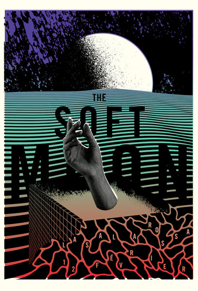 2016 Contemporary Music Poster - The Soft Moon, La Sala Rosa