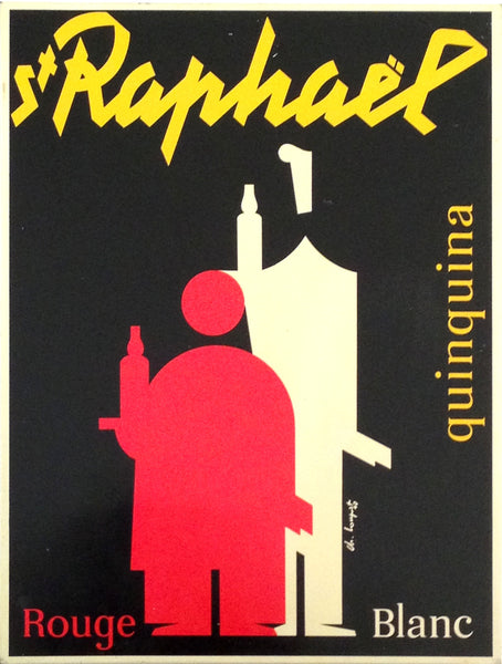 1948 Art Deco Advertising Tin, St-Raphael Quinquina - Loupot