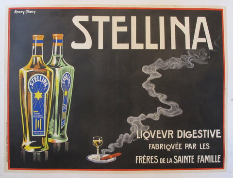1930s Original French advertisement poster - Alcohol Poster - Stellina