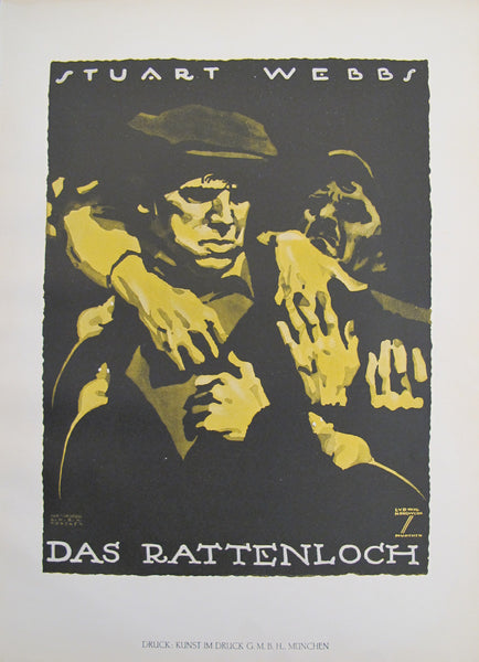 "1926 Original German Art Deco Movie Poster - Stuart Webb ""Das Rattenloch"""