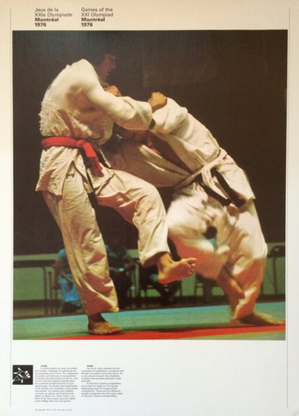 1976 Montreal Olympic Poster, Double-sided, Judo/Swimming - COJO