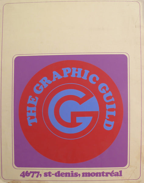 1960s Original Canadian Contemporary Poster, The Graphic Guild
