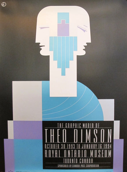 1990s Original Canadian Poster - The Graphic World of Theo Dimson by Theo Dimson