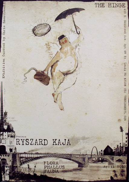 2013 Original Polish Exhibition Poster, Flora Phallus Fauna
