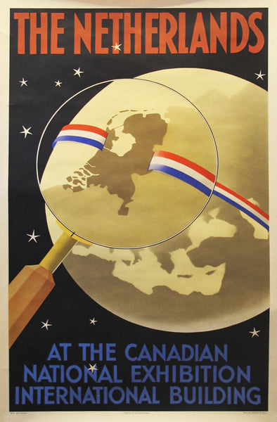 1940s Original Dutch Poster, Netherlands at the Canadian National Exhibition - Kempanaer
