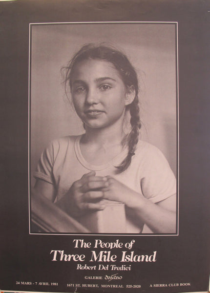 "1981 Original Vintage Exhibition Poster, Robert Del Tredici book ""The People of Three Mile Island"""