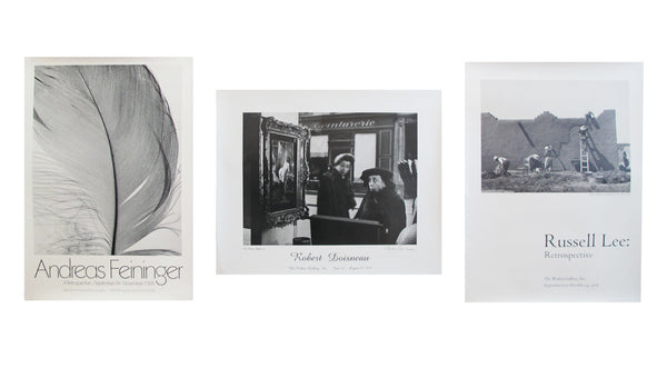 1970s Black and White Photography Exhibition Poster Set - Feininger, Lee, Doisneau