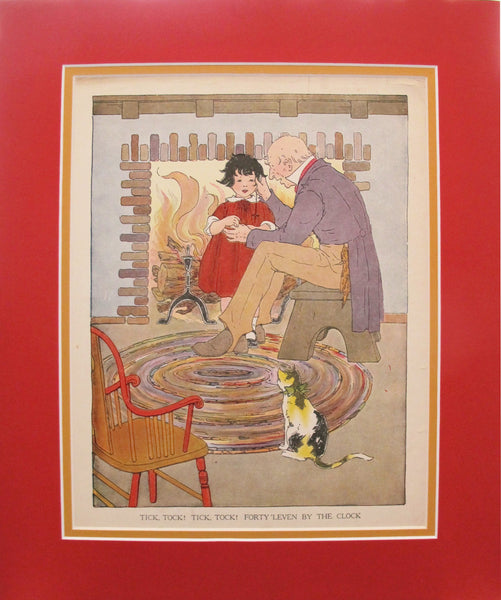 1918 British Children's Illustration, Tick, Tock! Tick, Tock!