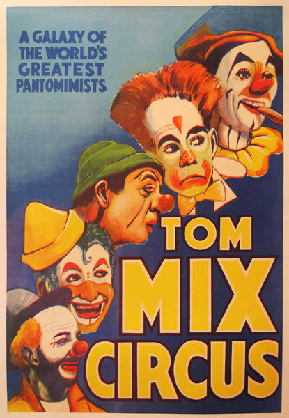 1938 Original American Circus Poster, Tom Mix