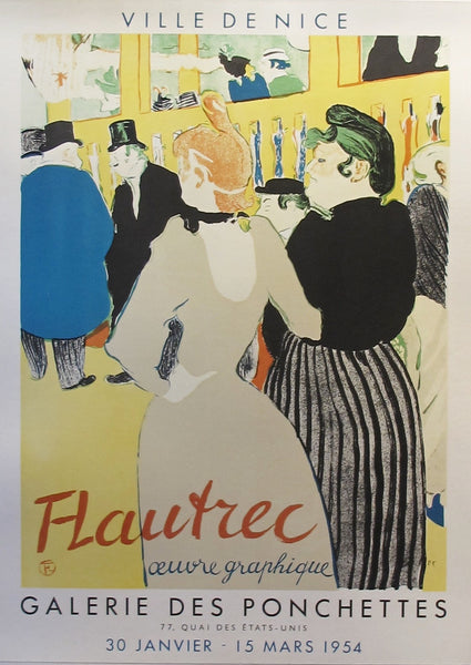 1954 Original French Toulouse-Lautrec Exhibition Poster - Toulouse-Lautrec (after)