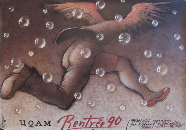 1990 UQAM Rentrée 90 Poster, Running With Wings