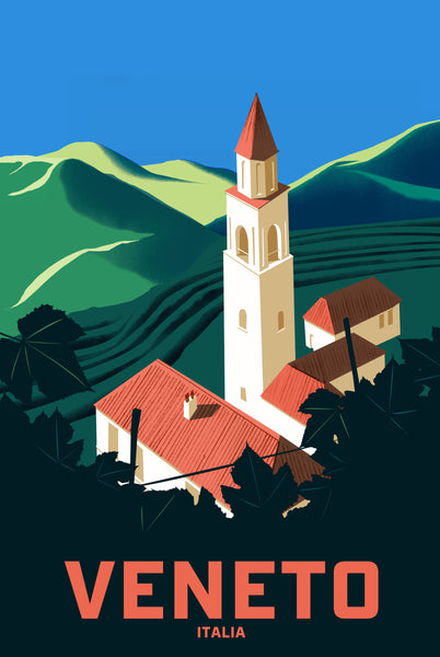 2019 Contemporary Travel Poster - Pascal Blanchet - Veneto