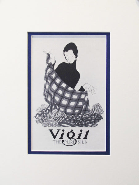 1920s Original Mini Poster - Vigil The Pure Silk - Taylor