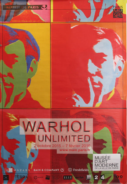 2016 Original Contemporary Andy Warhol Exhibition Poster - Warhol Unlimited - Musée d'Art Moderne