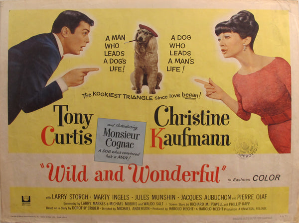 "1964 Original American Movie Poster - ""Wild and Wonderful"" with Tony Curtis & Christine Kaufmann"