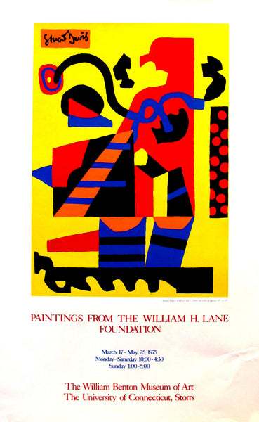 1975 Original American Exposition Poster, Paintings from the William H. Lane Foundation - Stuart Davis (after)