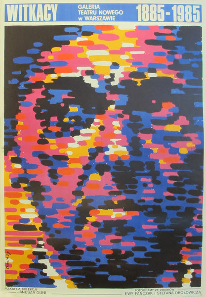 1985 Original Polish poster, Witkacy Exhibition Teatru Nowego Warsovie