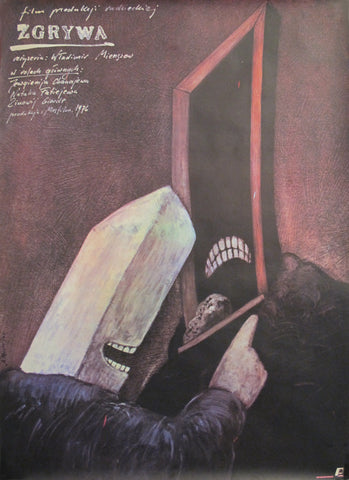 "1976 Original Polish Movie Poster - Practical Joke ""Zgrywa"""