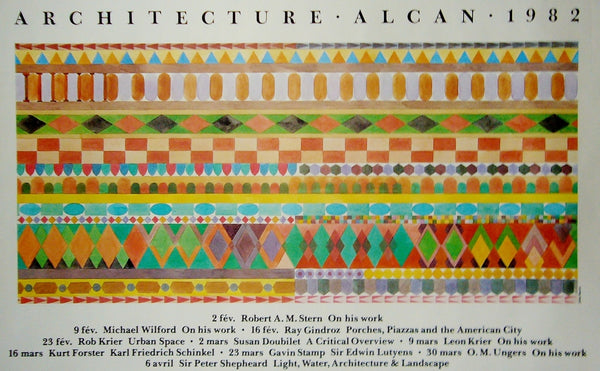 1980s Quebec Contemporary Poster, Alcan Architecture - Harris