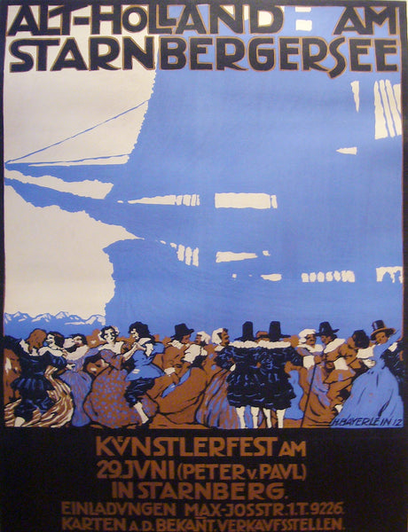 1912 Original German Art Deco, Alt-Holland - Hans Bayerlein