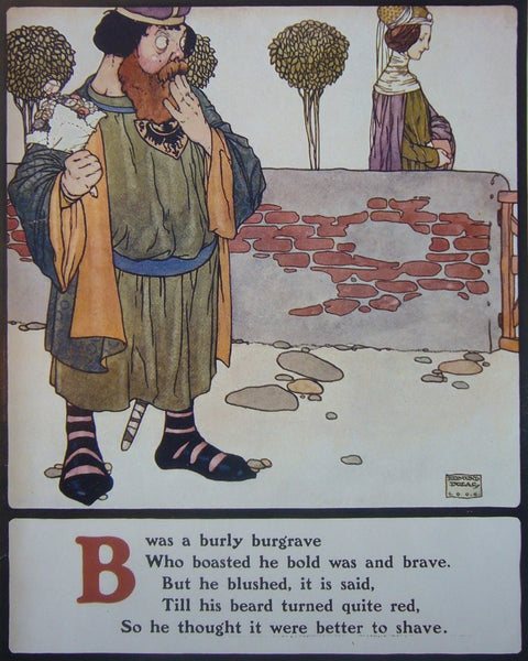 1908 British Children's Illustration,  Burly Burgrave - Dulac
