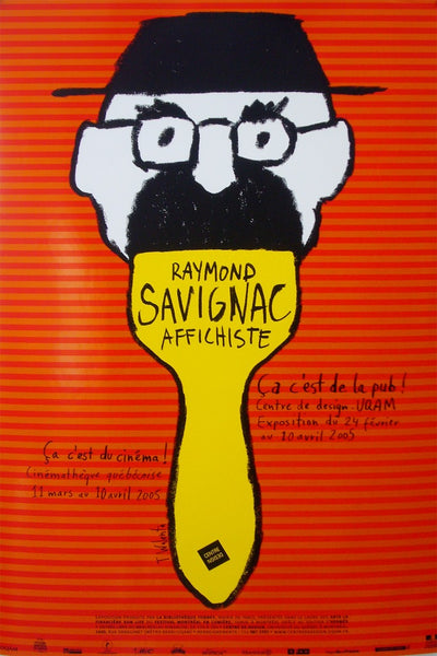 2005 Quebec Contemporary Poster, Centre De Design De L'UQAM, Savignac Exhibition