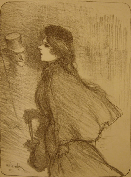 1896 Original French Print, Ton Nez - Steinlen