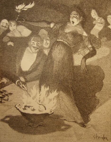 1896 Original French Print, Volupté - Steinlen