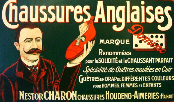 1900s Vintage Belgian Poster, Chaussures Anglaises