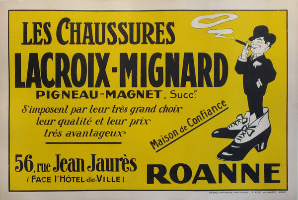 1910 Original French Poster, Lacroix-Migniard Shoes