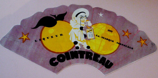 1920-1930s Original French Art Deco Poster, Cointreau Fan - Colin (after)