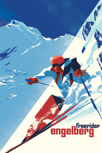 2016 Danish Modern Poster, Engelberg Winter
