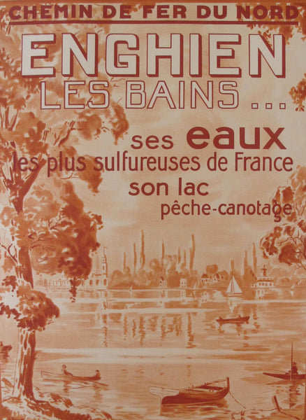 1920s Original French Railway Poster, Enghien les Bains - Unknown