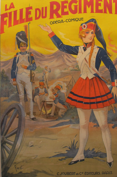 1910 Original French Opera Poster, La Fille du Regiment