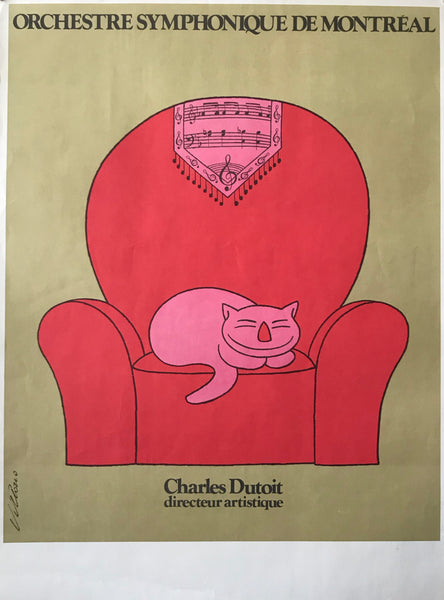 1967 Original Poster for the Orchestre Symphonique de Montreal, Charles Dutoit