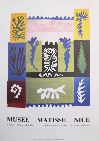 1986 Original French Henri Matisse Exhibition Poster, Nice Amphirite