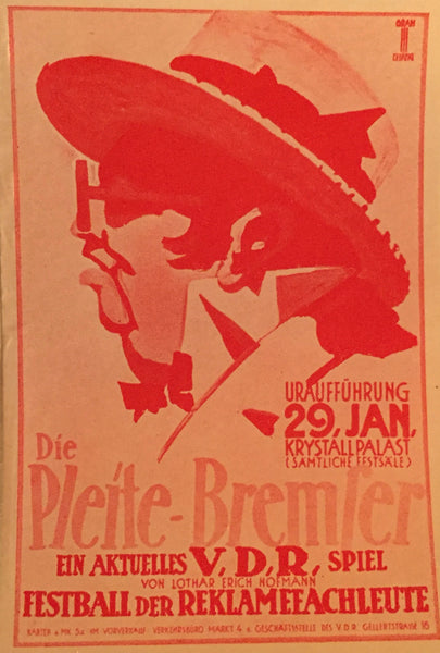 1927 Vintage German Mini Posters, Various (Set 3)