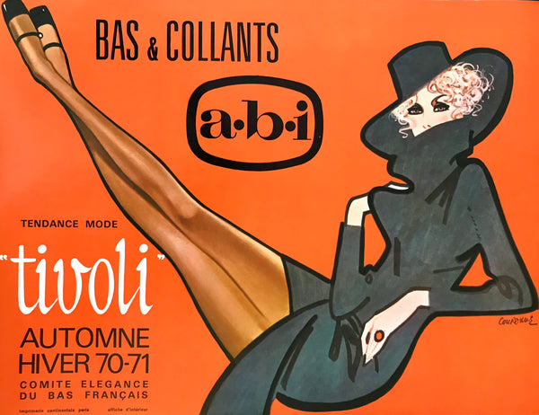 1970 Original French Poster, Tendence Mode Tivoli (Stockings)