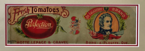 1900's Original Quebec Art Nouveau Tomato Label, Perfection Brand (Bord-A-Plouffe)