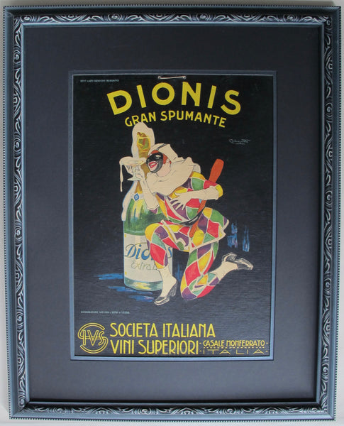 1920 Original Italian Advertising Carton, Dionis Gran Spumante (Framed)