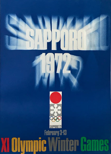 1972 Original Sapporo Winter Olympic Games Poster, Logo