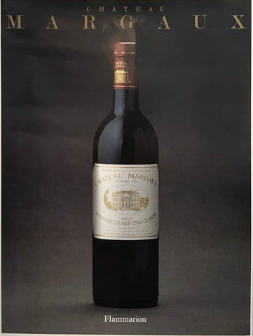 1988 French Wine Poster, Chateau Margaux