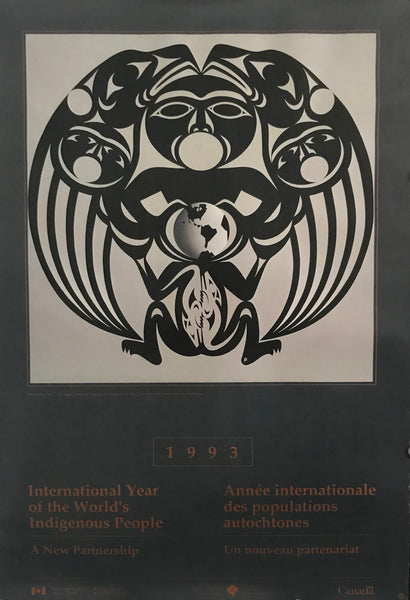 1993 Vintage Exhibition Poster, International Year of the World's Indigenous People