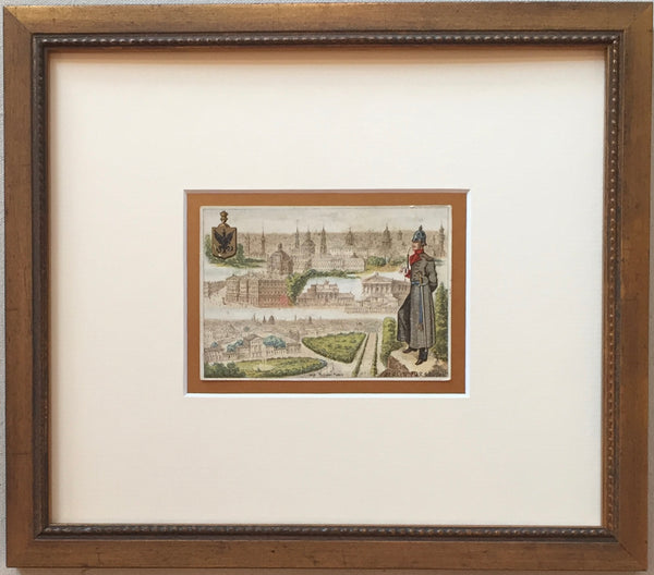 1900 French Art Nouveau Trade Card, Berlin (Framed)