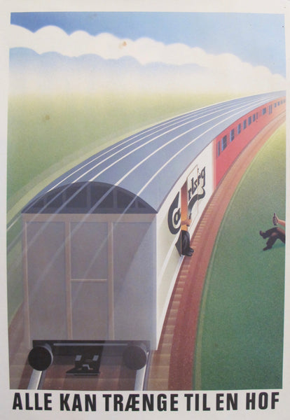 1980s Danish Advertisement for Carlsberg Beer, Train