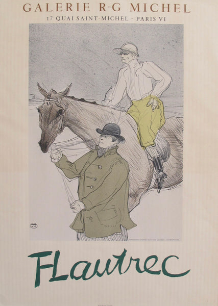 1954 Toulouse-Lautrec Exhibition Poster, Galerie R. G. Michel (Jockey + Walker with Horse)